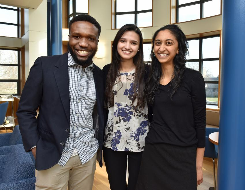 Image of three students in Emerging Scholars program